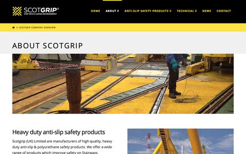 Screenshot of About Page scotgrip.com - Scotgrip Company Overview - Scotgrip - captured Oct. 2, 2018