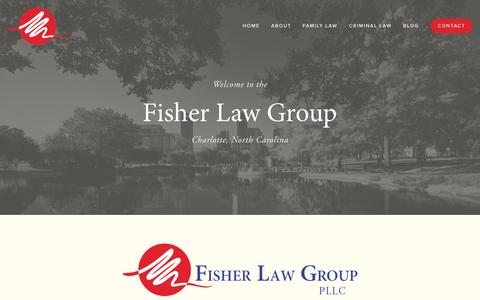 Screenshot of Home Page fisherlawgrouppllc.com - Family Lawyer in Charlotte, NC | Child Custody Attorney Charlotte North Carolina | Fisher Law Group PLLC - captured Aug. 3, 2015