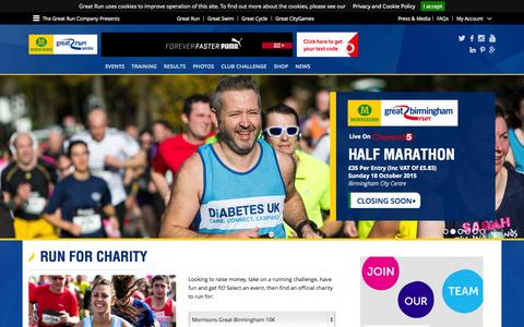 Screenshot of Home Page greatrun.org - Great Run - The World's Favourite Run - captured Oct. 2, 2015