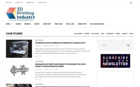 Screenshot of Case Studies Page 3dprintingindustry.com - Case Studies Archives - 3D Printing Industry - captured Feb. 9, 2020
