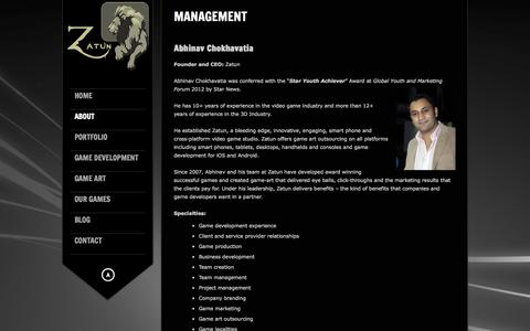 Screenshot of Team Page zatun.com - Zatun Management - Executive Producer in the Video Game Industry - captured Sept. 19, 2014