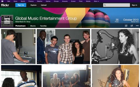 Screenshot of Flickr Page flickr.com - Flickr: Global Music Ent. Group's Photostream - captured Oct. 22, 2014