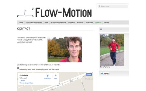 Screenshot of Contact Page flow-motion.info - Contact - Flow-motion : Flow-motion - captured Oct. 6, 2014