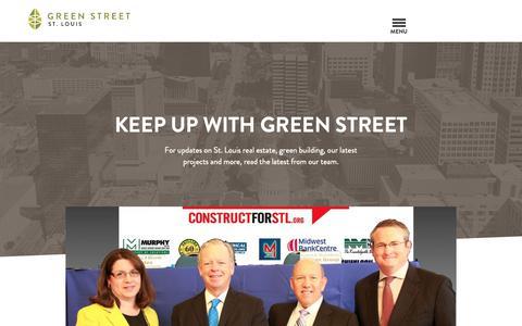 Screenshot of Blog Press Page greenstreetstl.com - Blog | Green Street - captured Sept. 30, 2018
