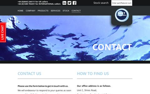 Screenshot of Contact Page mkt-computers.co.uk - Contact - captured Aug. 2, 2015