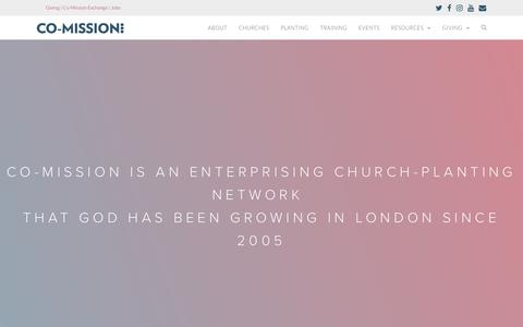 Screenshot of About Page co-mission.org - About - Co-Mission - captured Nov. 1, 2018