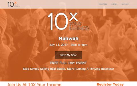 Screenshot of Landing Page tomferry.com - Mahwah 10X Your Business | Tom Ferry - Your Coach - captured April 13, 2017