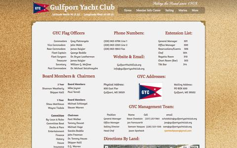 Screenshot of Contact Page webs.com - Gulfport Yacht Club - Contact Us - captured Sept. 13, 2014