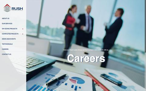 Screenshot of Jobs Page rushlankagroup.com - Careers | Rush Lanka Group - captured June 15, 2017