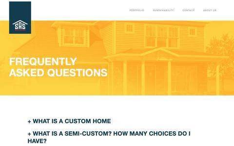 Screenshot of FAQ Page sasbuilders.com - FAQ — SAS - captured Oct. 1, 2018
