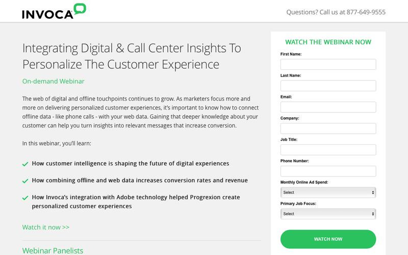 Invoca On-demand Webinar | Integrating Digital & Call Center Insights To Personalize The Customer Experience