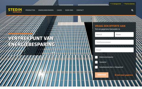 Screenshot of Home Page stedinmeetbedrijf.nl - Stedin Meetbedrijf | Home - captured Sept. 30, 2014