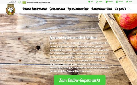 Screenshot of Home Page bauerntuete.de - Gesunde & frische Lebensmittel online bestellen - Bauerntüte.de - captured Oct. 26, 2018