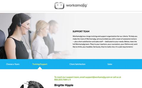 Screenshot of Support Page workamajig.com - Meet the Workamajig Team - captured Dec. 2, 2017