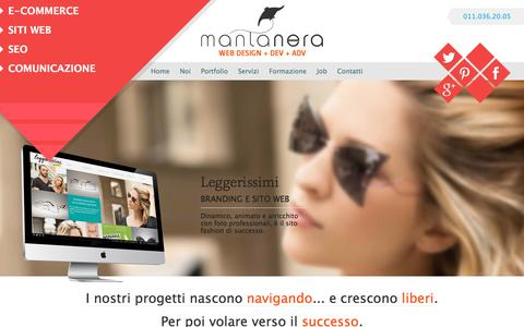 Screenshot of Home Page mantanera.it - Agenzia comunicazione | siti web | E-commerce Torino - captured Jan. 24, 2016