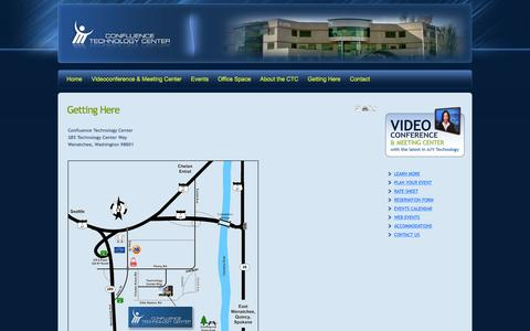 Screenshot of Maps & Directions Page ncwctc.com - Getting Here - captured Jan. 31, 2016
