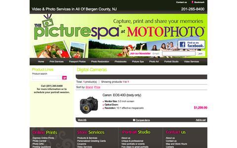 Screenshot of Products Page picturespa.com - Digital Cameras - Shop Online - Motophoto & Picturespa Paramus NJ - captured Feb. 15, 2016