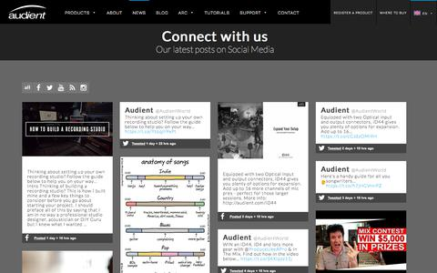 Screenshot of Press Page audient.com - News - Audient - captured July 31, 2018