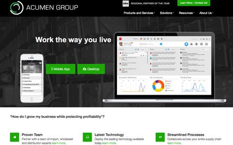 Screenshot of Home Page acumengroup.us - Acumen Group | 1.888.632.9901- - captured Sept. 30, 2014