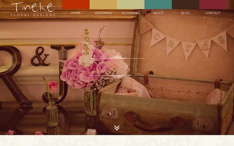Screenshot of Site Map Page tinekefloraldesigns.co.uk - Sitemap - Tineke Floral - captured Oct. 1, 2014