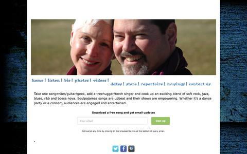Screenshot of Home Page soulpajamas.com - Soulpajamas - captured June 20, 2015