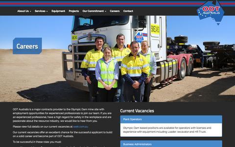 Screenshot of Jobs Page odtaustralis.com - Careers | ODT Australis - captured Sept. 30, 2014