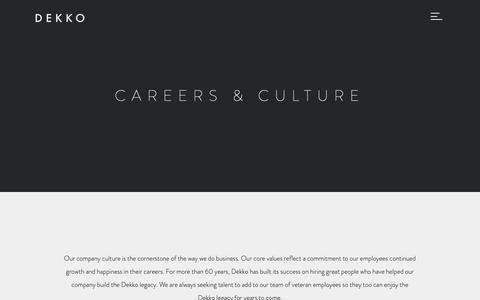 Screenshot of Jobs Page dekko.com - Dekko - captured June 9, 2019
