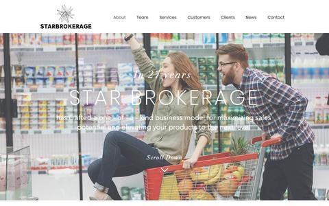 Screenshot of About Page starbrokerage.com - STAR Brokerage Sales & Marketing Agency - captured Oct. 18, 2018