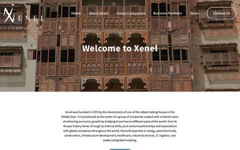 Screenshot of Home Page xenel.com - Xenel - captured Nov. 15, 2018