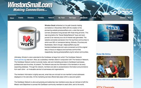 Screenshot of Home Page Privacy Page Contact Page Signup Page Login Page Terms Page handsontv.tv - WinstonSmall.com — Making Connections... - captured Oct. 1, 2014