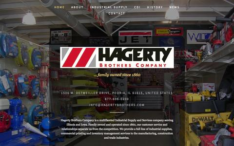 Screenshot of Home Page hagertybrothers.com - Hagerty Brothers Company - captured Oct. 1, 2014
