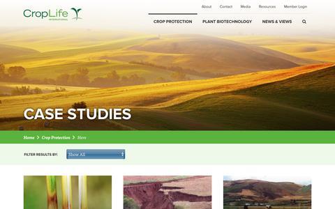 Screenshot of Case Studies Page croplife.org - Case Studies | CropLife International - captured Feb. 1, 2016