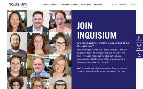 Screenshot of Jobs Page inquisium.com - Careers | Inquisium - captured July 7, 2018