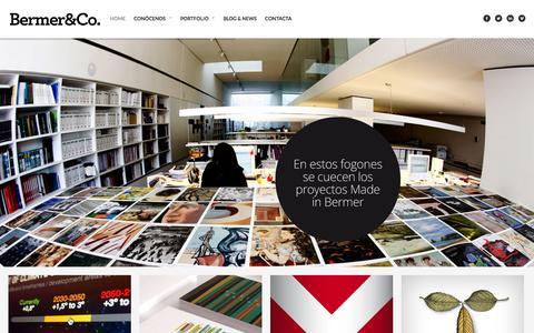 Screenshot of Home Page bermer.es - Bermer&Co. Agencia de comunicación y diseño Bermer&Co. - captured Feb. 7, 2016