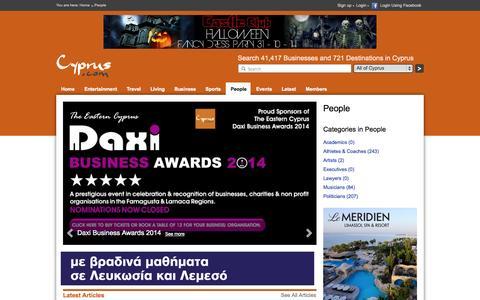 Screenshot of Team Page cyprus.com - People - captured Nov. 4, 2014