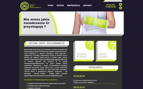 Screenshot of Home Page k-g-o.pl - KGO | Krajowa Grupa Odszkodowawcza - captured Oct. 6, 2014