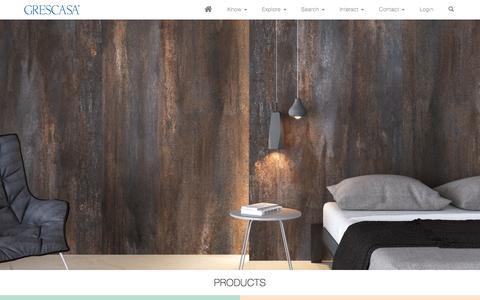 Screenshot of Products Page grescasa.com - Grescasa - captured Sept. 23, 2017