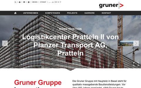 Screenshot of Home Page kiwi.ch - Gruner AG - captured Oct. 6, 2014