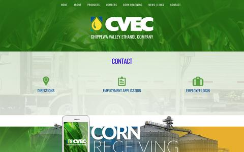 Screenshot of Contact Page cvec.com - Contact – CVEC - captured Sept. 27, 2018