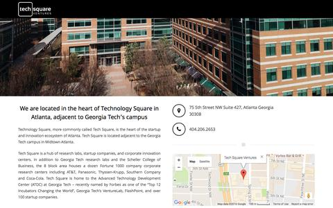 Screenshot of Maps & Directions Page techsquareventures.com - Technology Square - Tech Square Ventures - captured Aug. 12, 2016