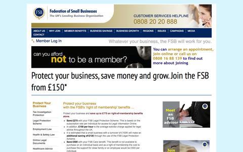 Screenshot of Signup Page fsb.org.uk - FSB Join Online Enquiry Form - captured Sept. 23, 2014