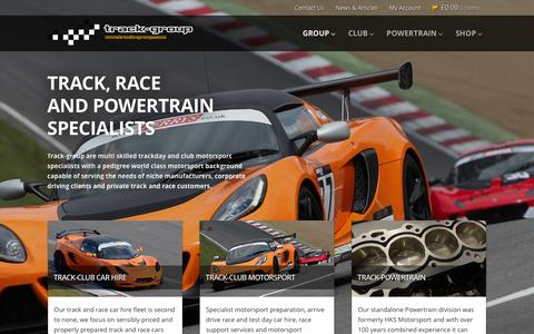 Screenshot of Home Page track-group.com - Track Group – road, track, race and powertrain specialists - captured Feb. 17, 2016