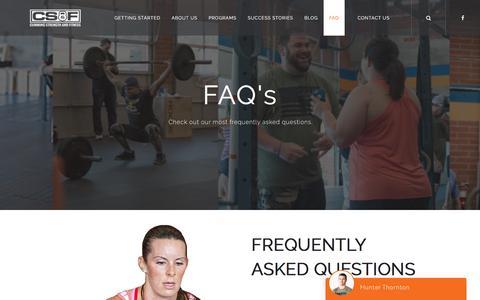 Screenshot of FAQ Page cummingstrengthandfitness.com - FAQ | Cumming Strength & Fitness - captured May 23, 2017