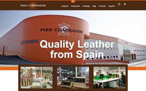 Screenshot of Home Page piescuadrados.es - Pies Cuadrados - captured Oct. 25, 2014