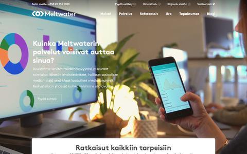 Screenshot of Products Page meltwater.com - Meltwaterin palvelut – Löydä ratkaisu omalle osastollesi - captured Jan. 17, 2018