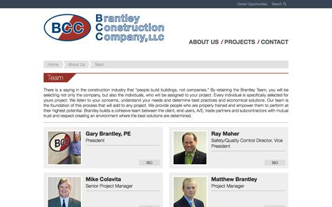 Screenshot of Team Page brantleyconstruction.com - Team - Brantley Construction - captured Oct. 10, 2019