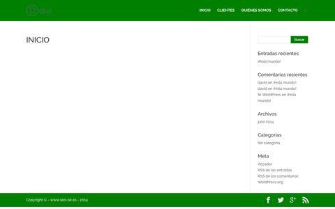 Screenshot of Home Page seo-ok.es - INICIO   SEOOK - captured Sept. 14, 2015