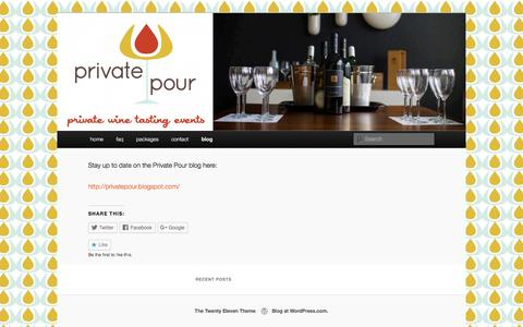 Screenshot of Blog privatepour.com - blog | privatepour - captured July 17, 2016