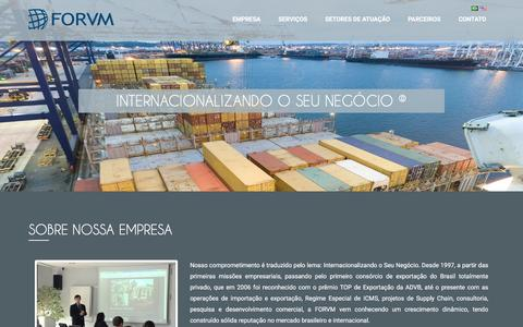 Screenshot of Home Page forvm.com.br - FORVM - captured Jan. 8, 2016