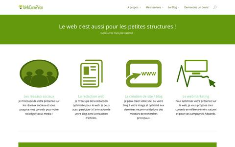 Screenshot of Home Page webcom2you.fr - WebCom2You - Community Manager Freelance - captured Sept. 30, 2014